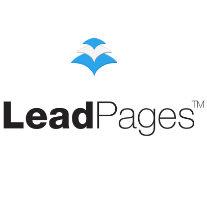 white background leadpages logo