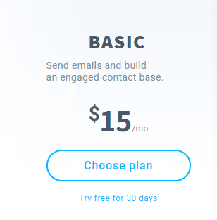 image of Getresponse basic plan