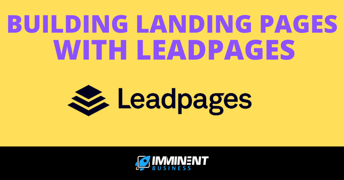 building landing pages with leadpages