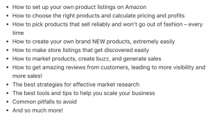 Amazon Success Dot Points