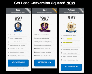 Lead Conversion Squared Pricing and Cost