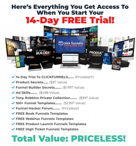 clickfunnels free trial bonuses