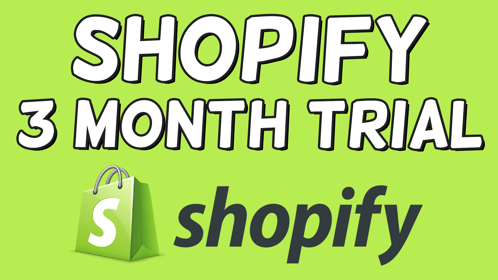 Shopify 3 Month Trial